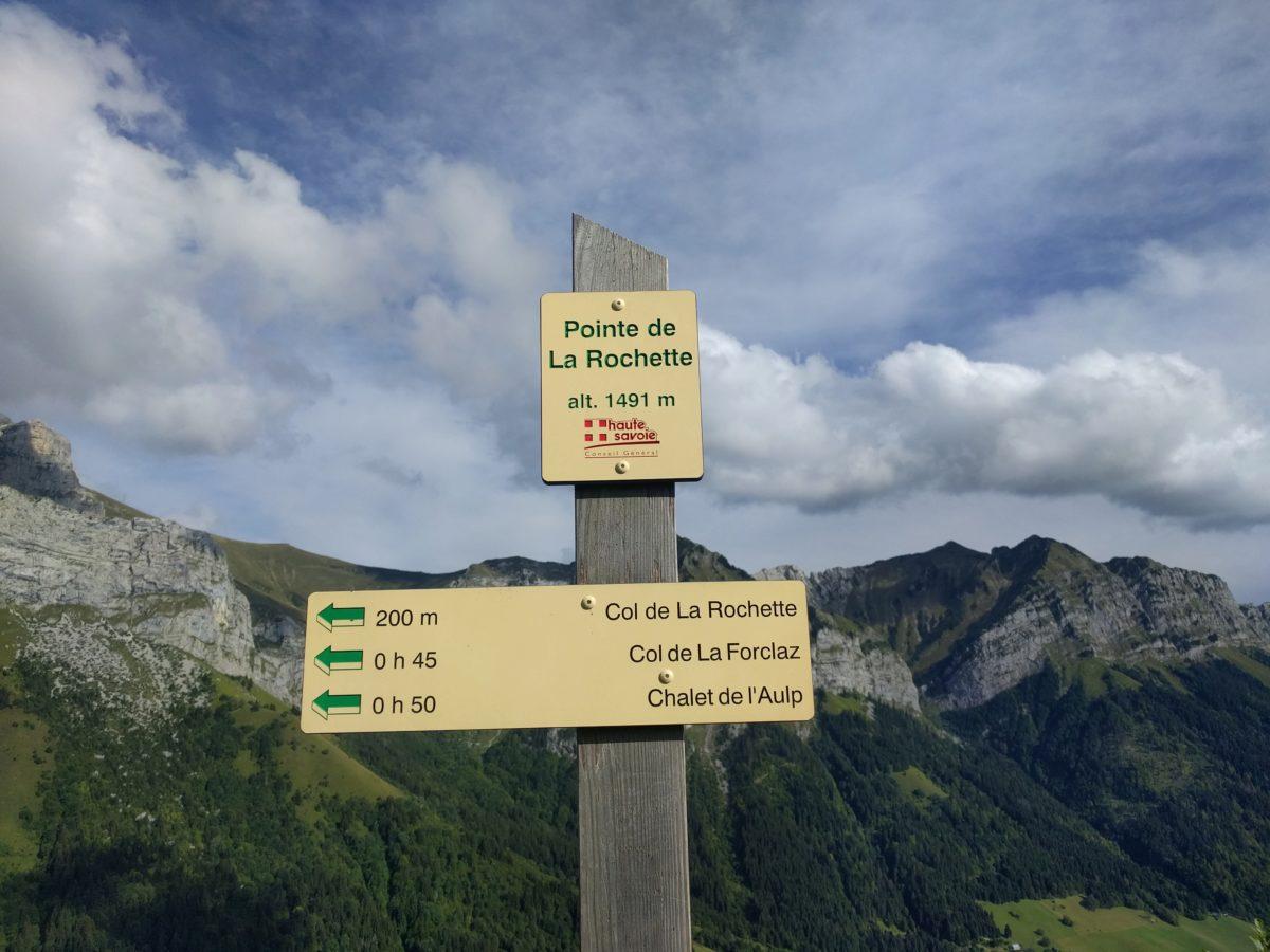 Col de la Forclaz et Pointe de La Rochette